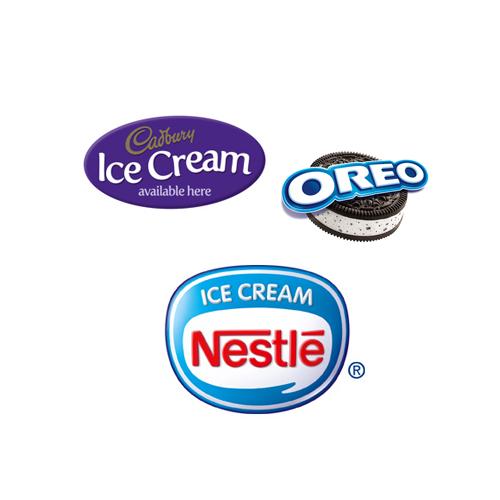 Nestle, Oreo & Cadbury Ice Cream