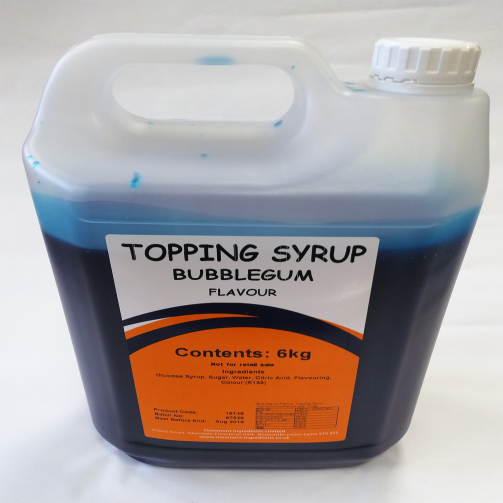 Bubblegum Gallon 6kg Topping Syrup