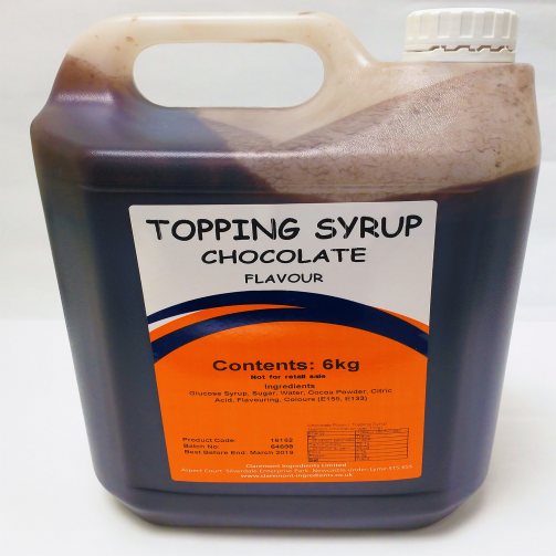 Chocolate Gallon 6kg Topping Syrup
