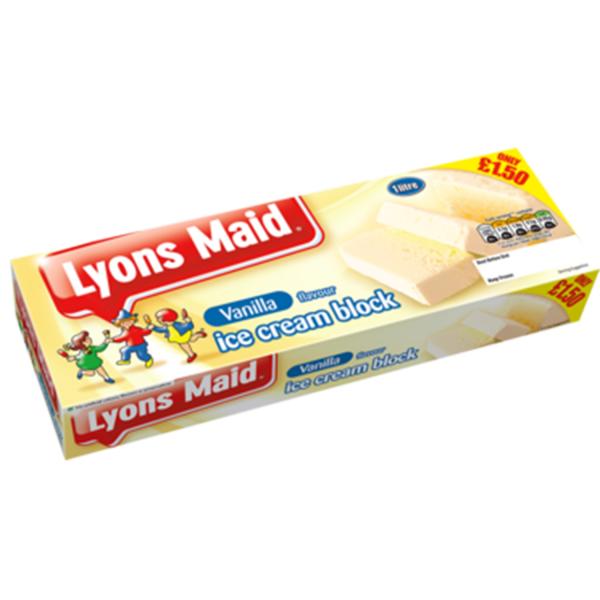 Lyons Maid Vanilla Ice Cream Block