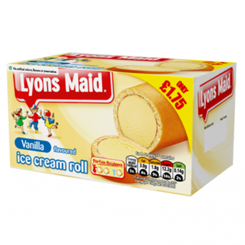 Lyons Maid Vanilla Ice Cream Roll