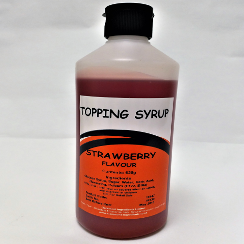 Strawberry Bottle Topping Syrup