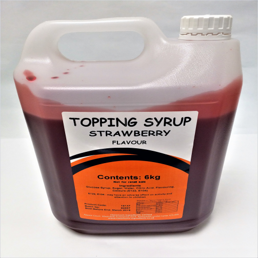 Strawberry Gallon 6kg Topping Syrup