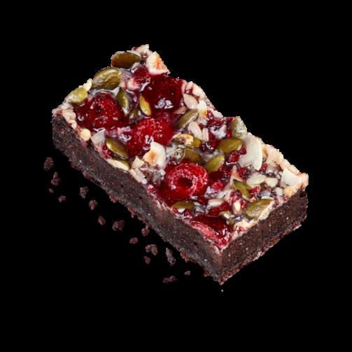 Raspberry Brownie