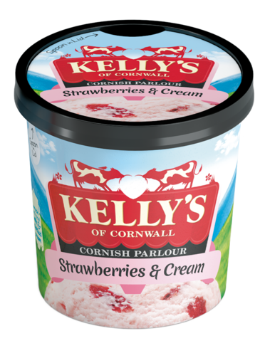 Kelly's Strawberry & Cream Mini Pot