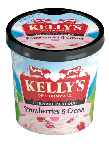 Kelly's Strawberry & Cream Mini Pot