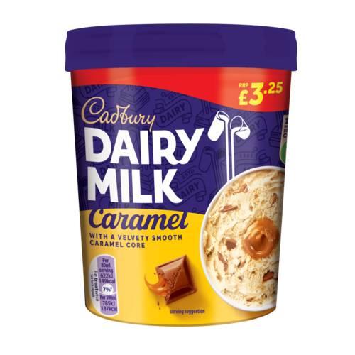 Cadbury Dairy Milk Caramel Ice Cream Tub