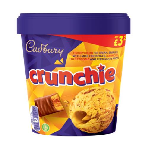 Nestle Cadbury Crunchie Ice Cream Tub