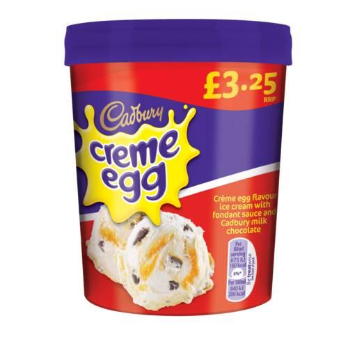 Nestle Creme Egg Ice Cream Tub